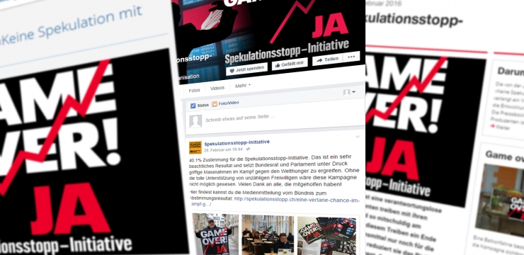 Spekulationsstopp-Initiative: Befürworter erfolgreich in Sozialen Medien