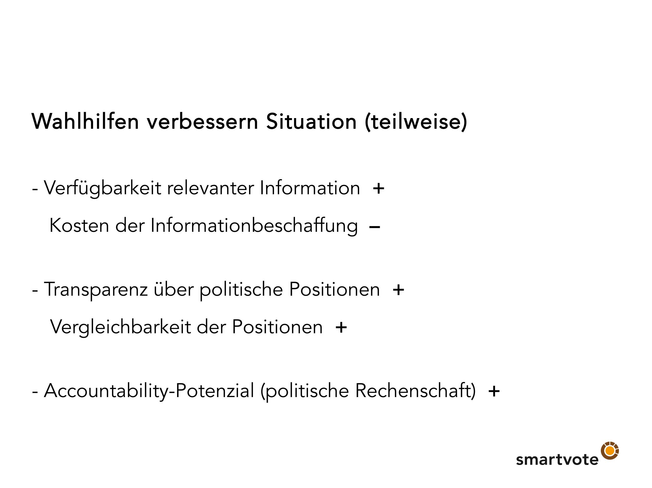Folien Daniel Schwarz: Mehr Transparenz, stärkere Accountability, smartere Politik?