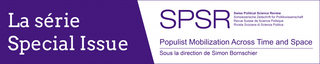 SPSR Special Issue Populisme